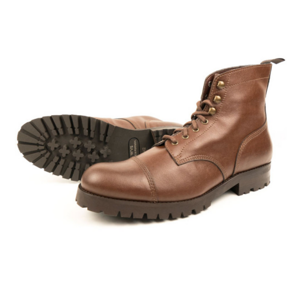 Will's Vegan Work Boots Chestnut, buy vegan boots Australia