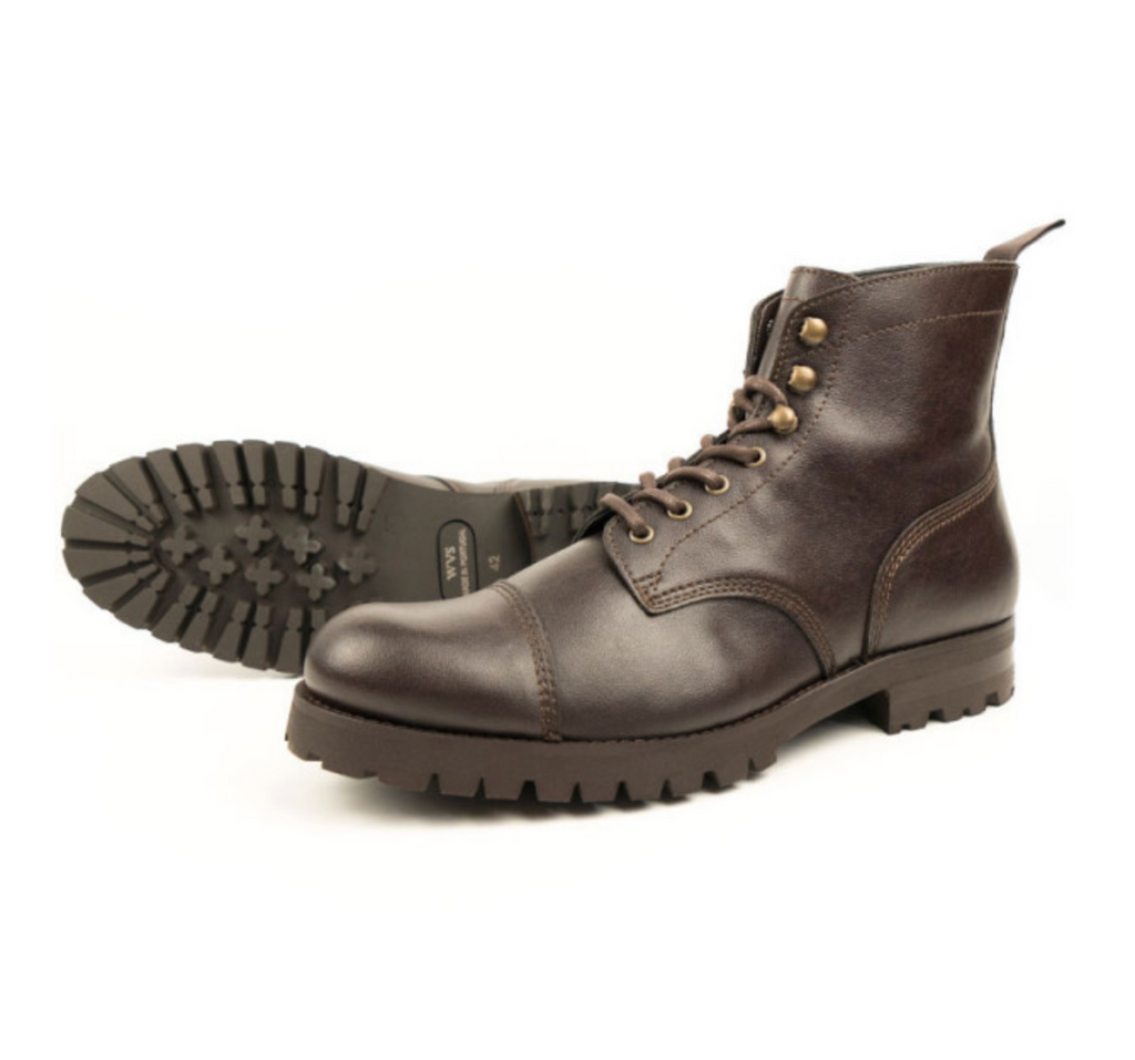 Will's Vegan Work Boots dark brown