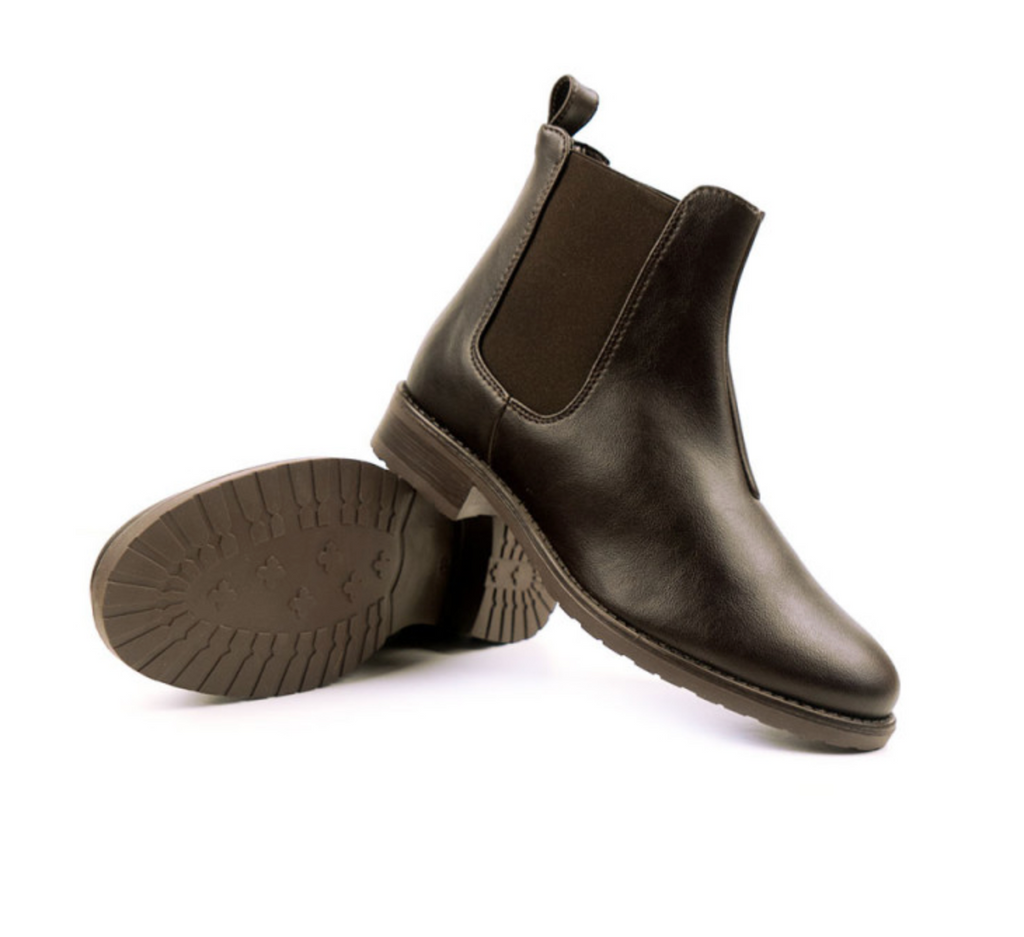 Will's Vegan Smart Chelsea Boot Dark Brown