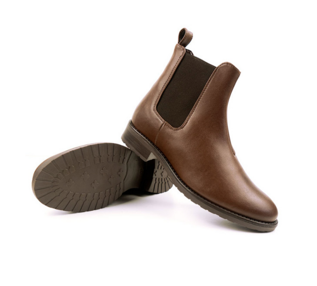 Will's Vegan Smart Chelsea Boot Chestnut