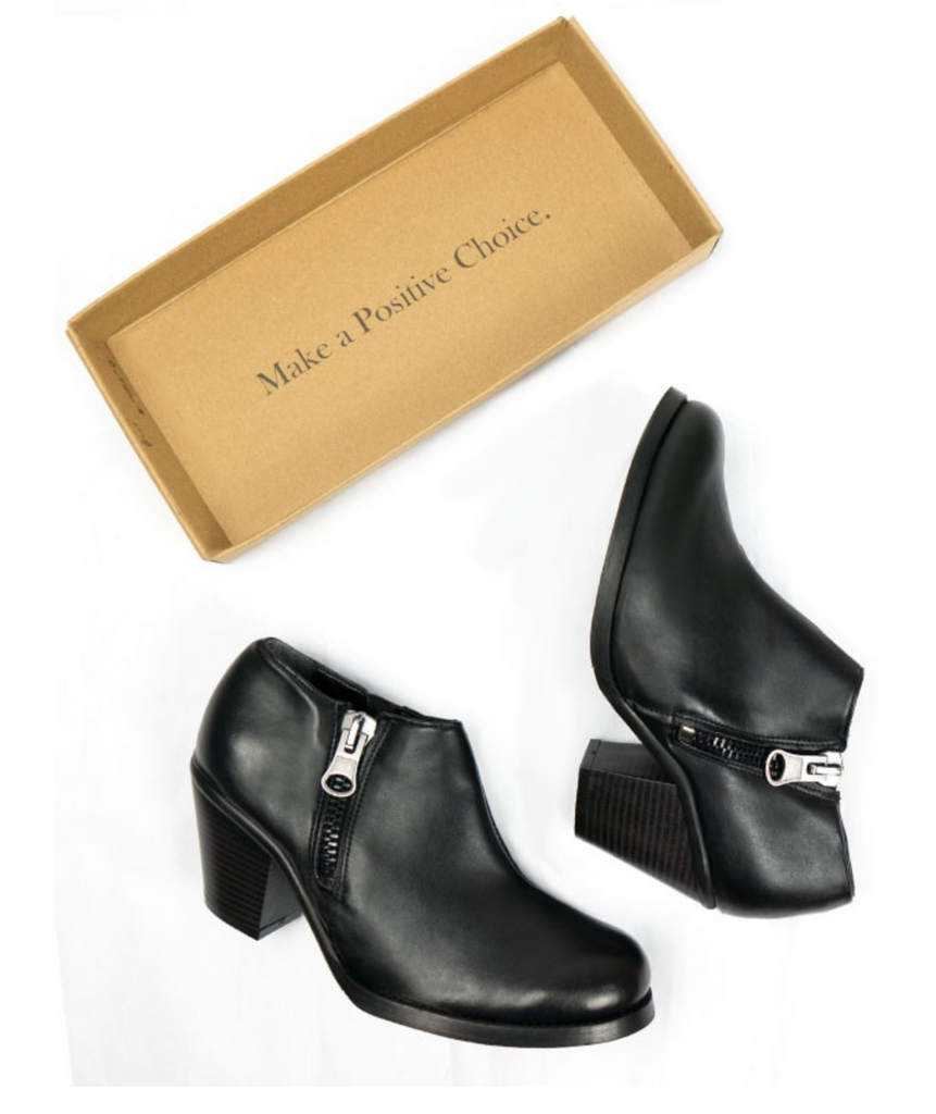 Will's Vegan Luxe Heeled Shoes Black