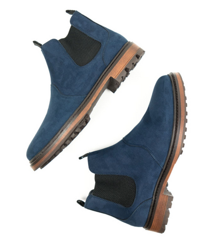 Will's Vegan Continental Chelsea Boots Dark Blue