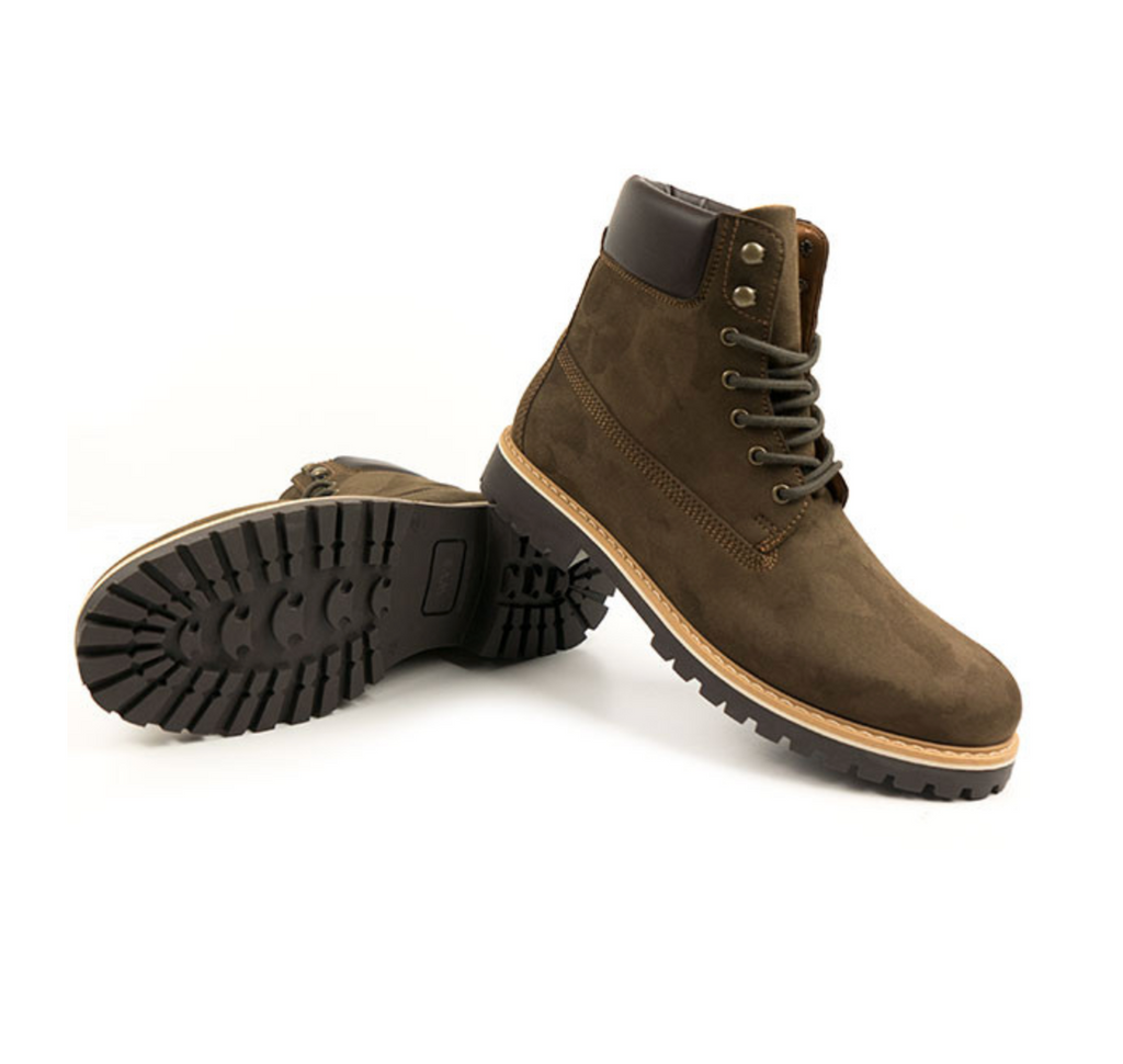 Will's Vegan Shoes Dock Boots Brown Faux Suede