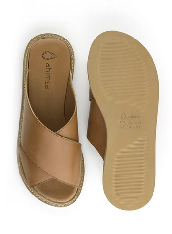 Ahimsa Vegan Mia Slide Brown