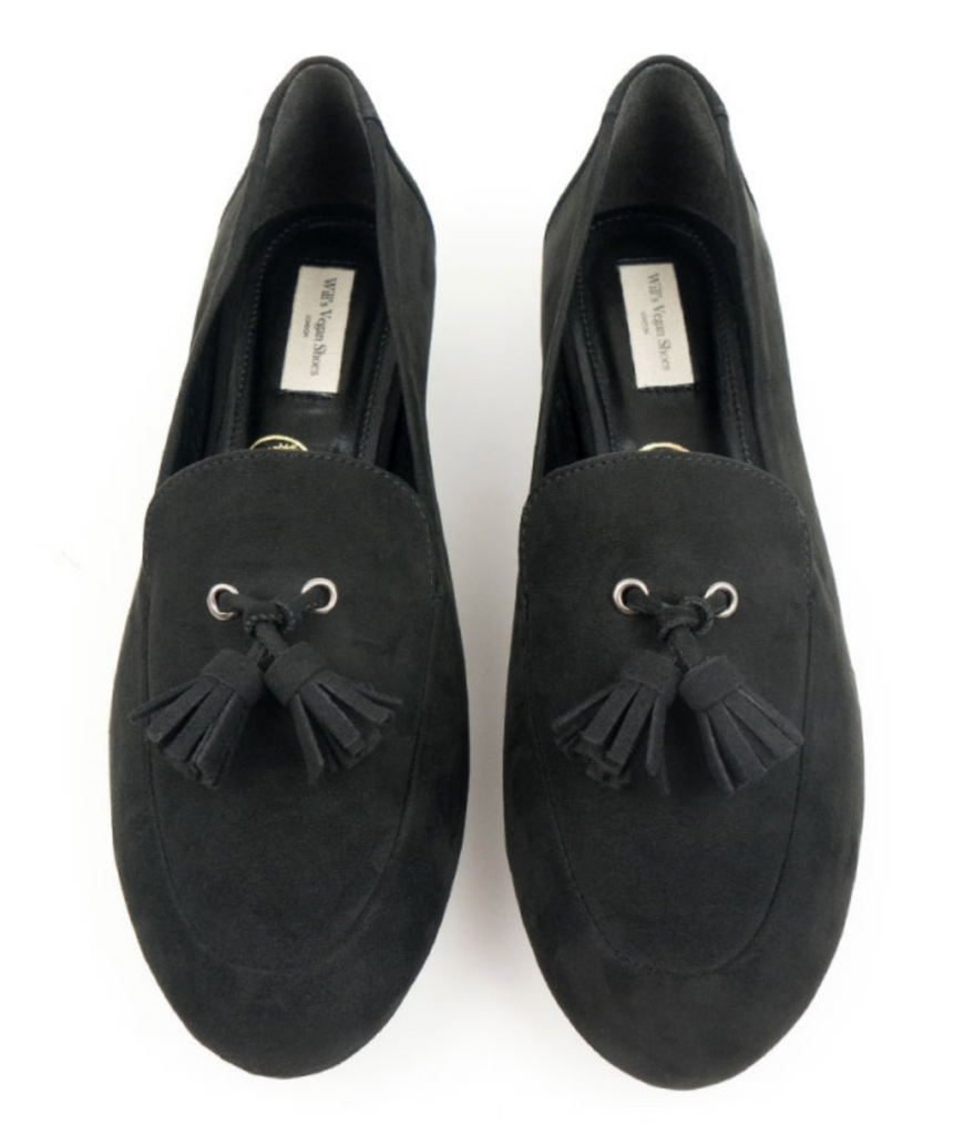Will's Vegan Tassle Loafers Black