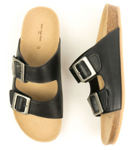 Will's Vegan Footbed Sandals Black