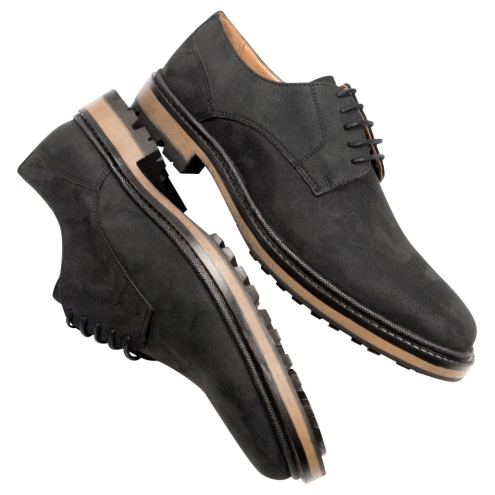 Will's Vegan Shoes Continental Derbys Black Faux Suede