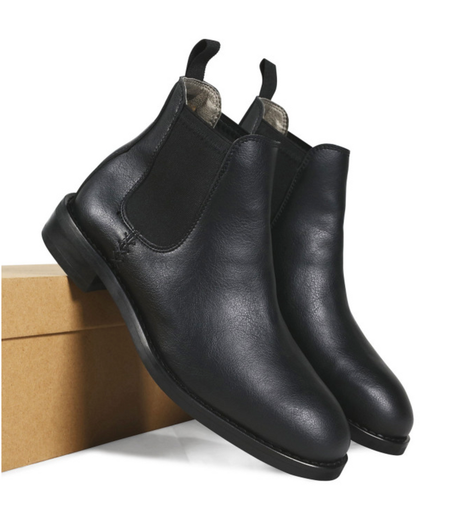 Will's Vegan Waterproof Chelsea Boots Black