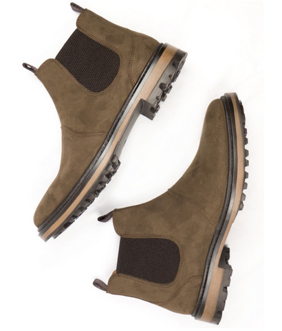 Will's Vegan Continental Chelsea Boots Dark Brown