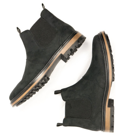 Will's Vegan Continental Chelsea Boots Black