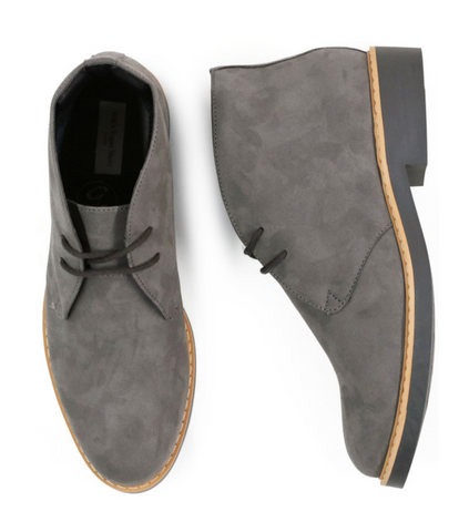 Will's Vegan Shoes Signature Desert Boots Grey Vegan Suede