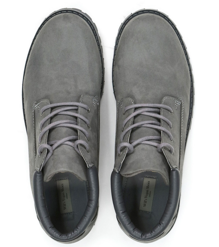 Will's Vegan Low Dock Boots Grey Vegan Suede