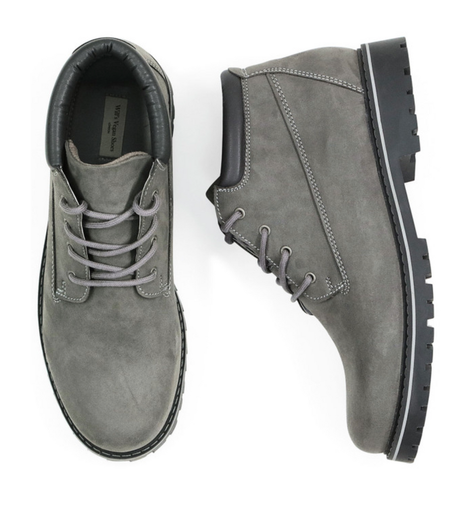 Will's Vegan Low Dock Boots Grey Vegan Suede Men's size EU 45 - sale