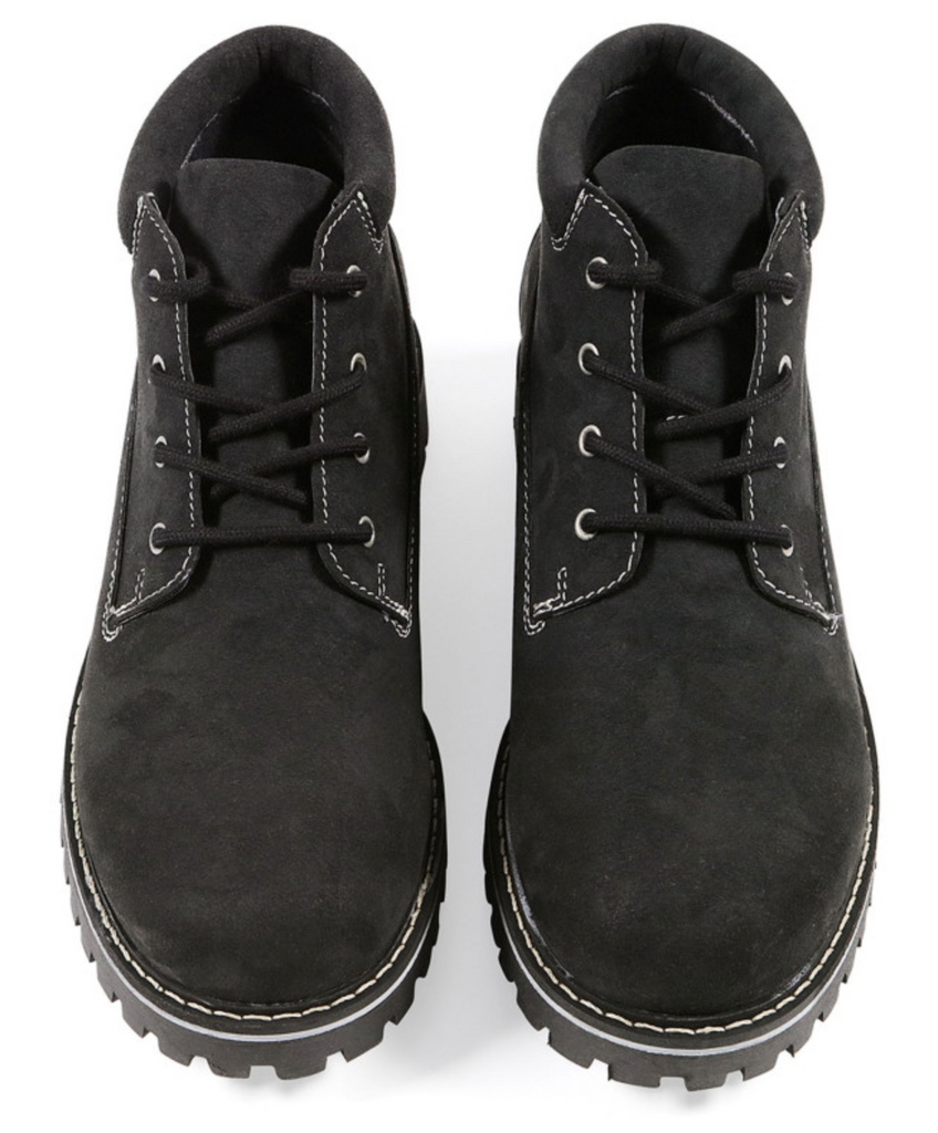 Will's Vegan Low Dock Boots Black Vegan Suede