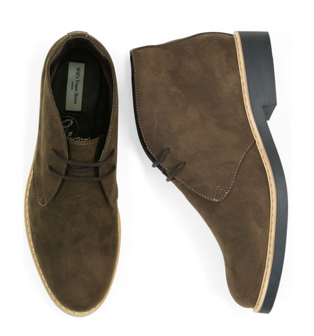 Will's Vegan Shoes Signature Desert Boots Dark Brown Vegan Suede