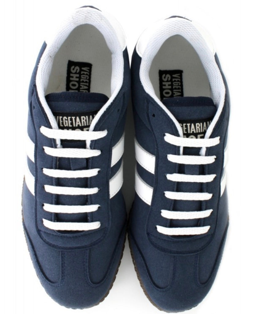Vegetarian Shoes Cheetah Trainer Navy