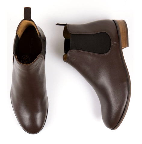 Will's Vegan Shoes Chelsea Boot Dark Brown