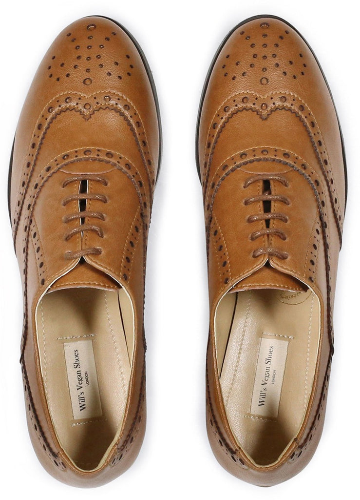 Will's Vegan Oxford Brogues Tan