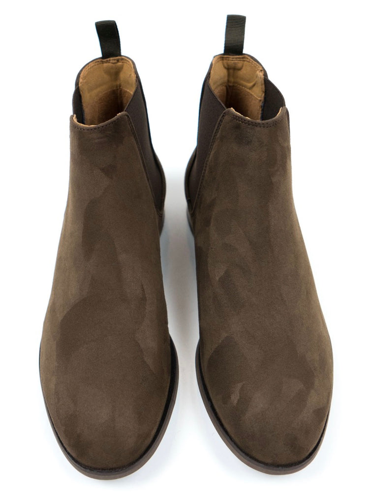 Will's Vegan Shoes Chelsea Boot Dark Brown Vegan Suede