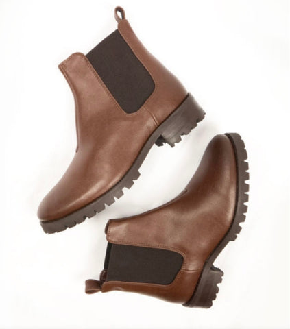 Will's Vegan Deep Tread Chelsea Boot Chestnut