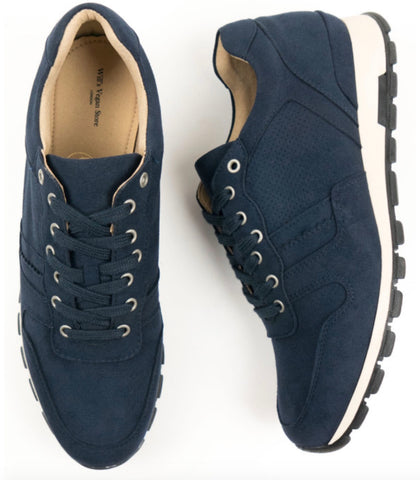 Will's Vegan Shoes Milan Trainers Dark Blue