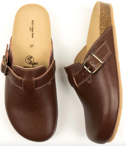 Will's Vegan Shoes Clogs Chestnut