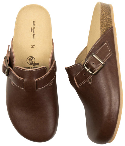 Will's Vegan Shoes Clog Footbed Sandals Chestnut