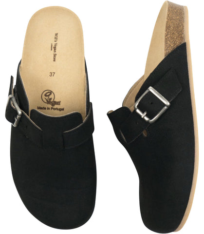 Will's Vegan Shoes Clog Footbed Sandals Black