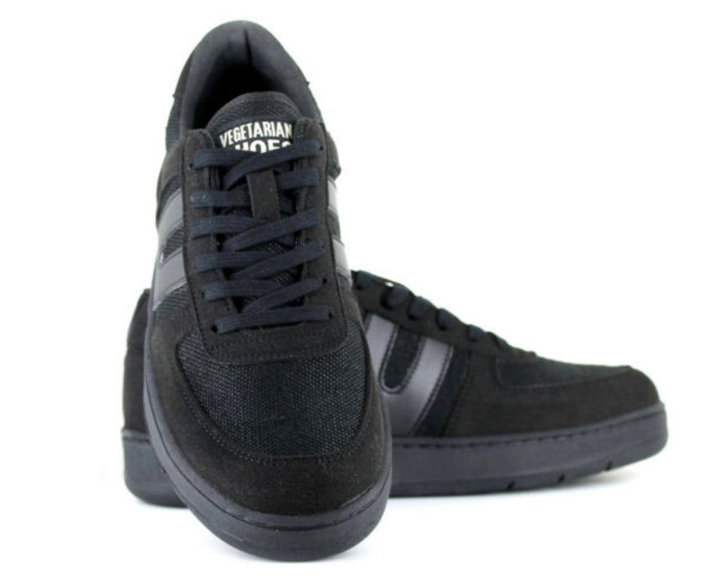 Vegetarian Shoes Veg Supreme Hemp Lo Top Black