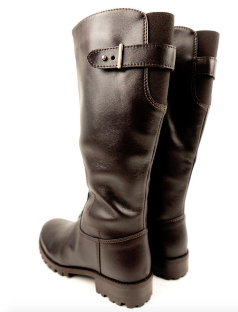 Will's Vegan Knee Length Boots Dark Brown