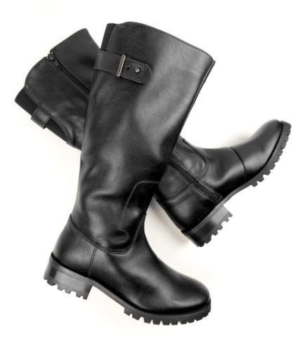 Will's Vegan Knee Length Boots Black