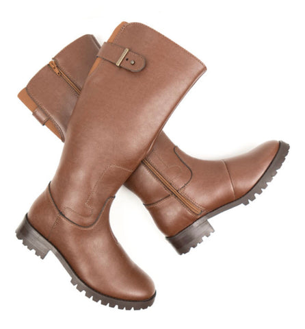 Will's Vegan Knee Length Boots Chestnut