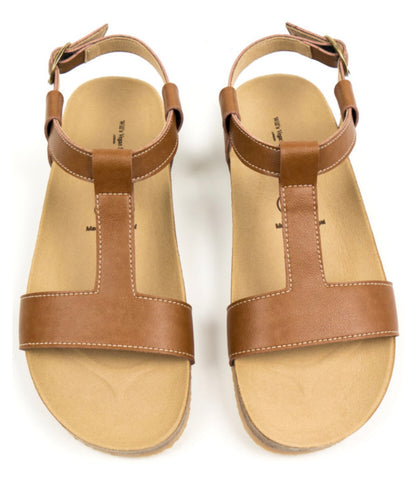 Will's Vegan Footbed Sandals Tan