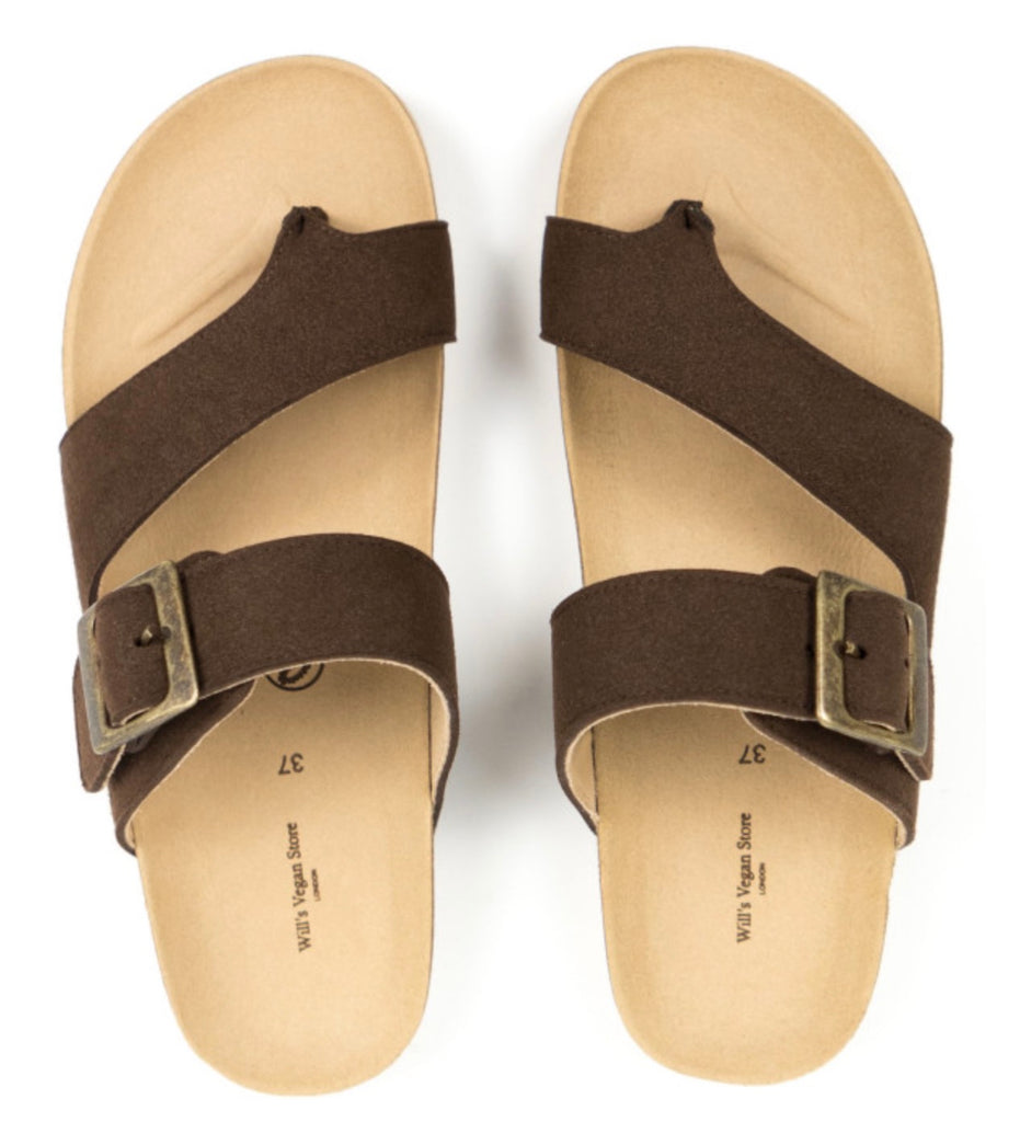 Will's Vegan Two Strap Toe Peg Sandals
