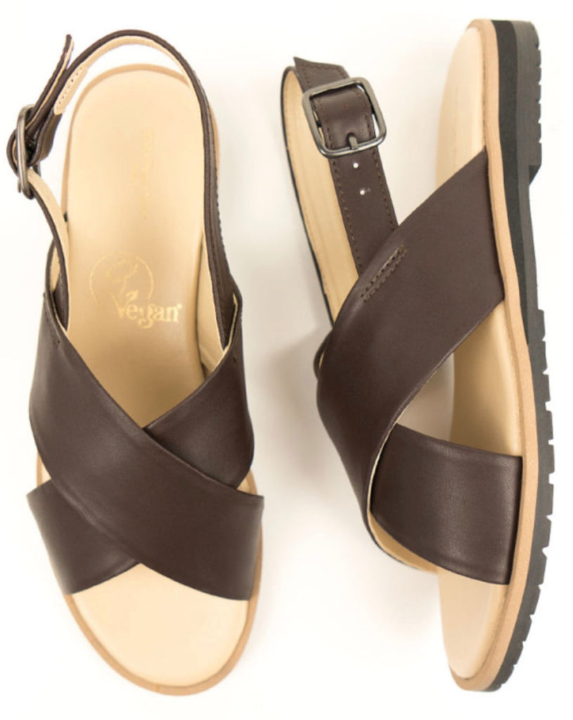 Will's Vegan Huarache Sandals Dark Brown