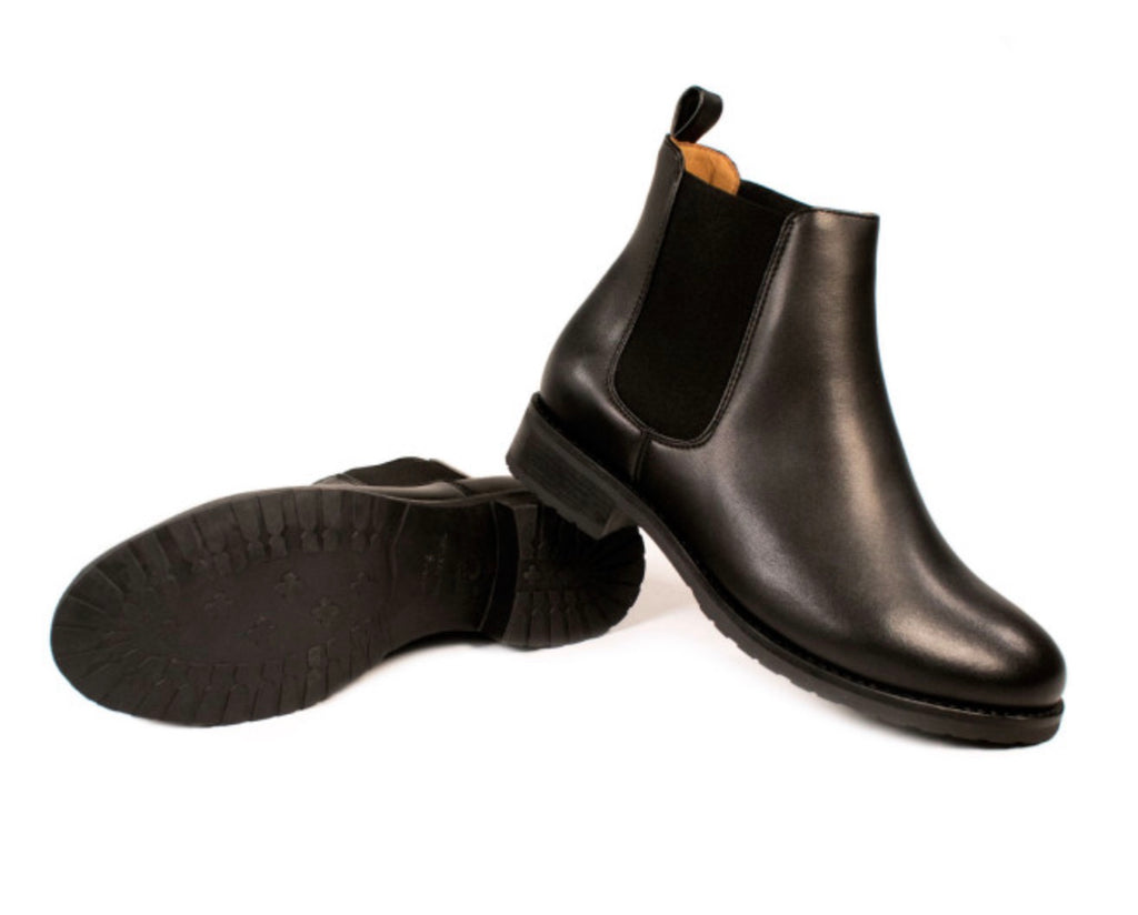 Will's Vegan Luxe Smart Chelsea Boot Black