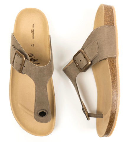 Will's Vegan Shoes Toe Peg Footbed Sandals