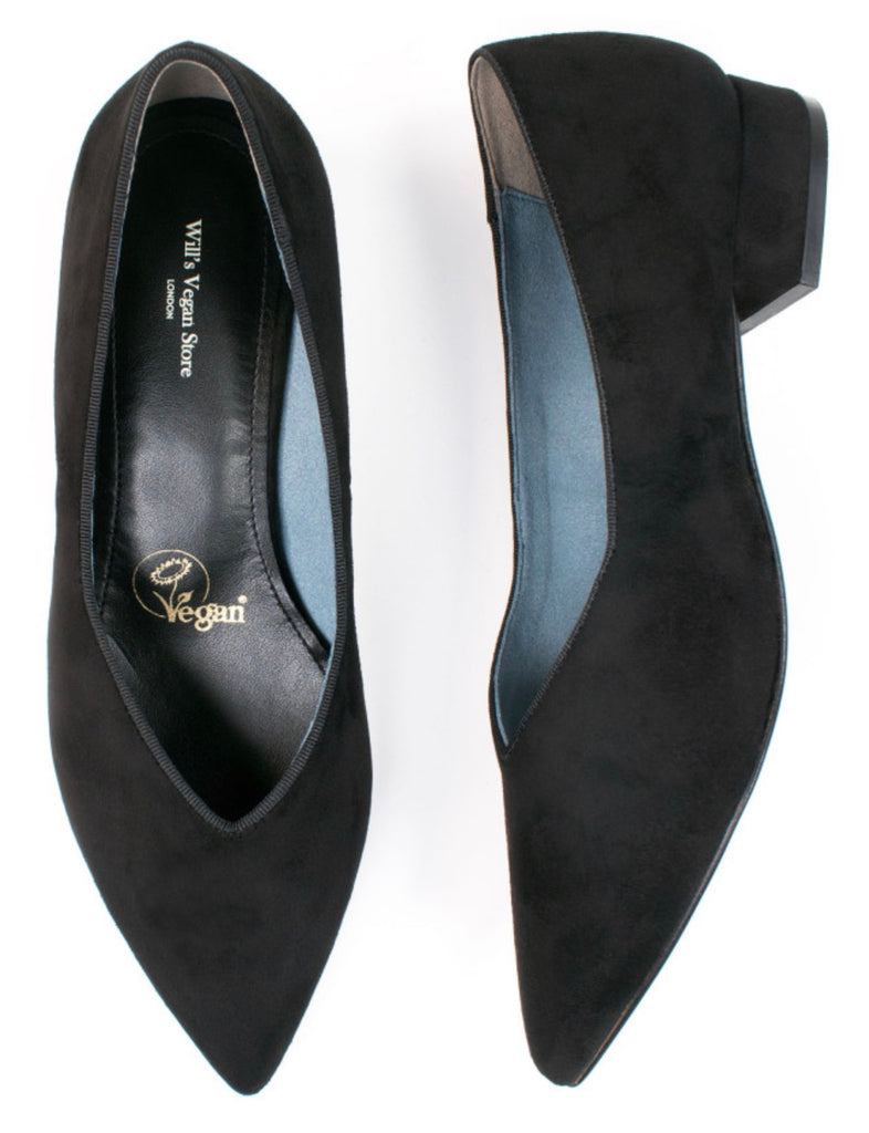 Will's Vegan Shoes Point Flats Black