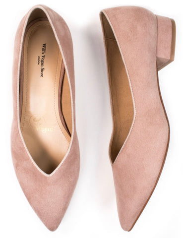 Will's Vegan Shoes Point Flats Pink
