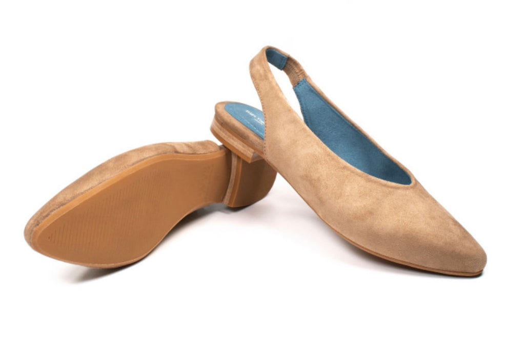 Will's Vegan Slingbacks Stone Vegan Suede
