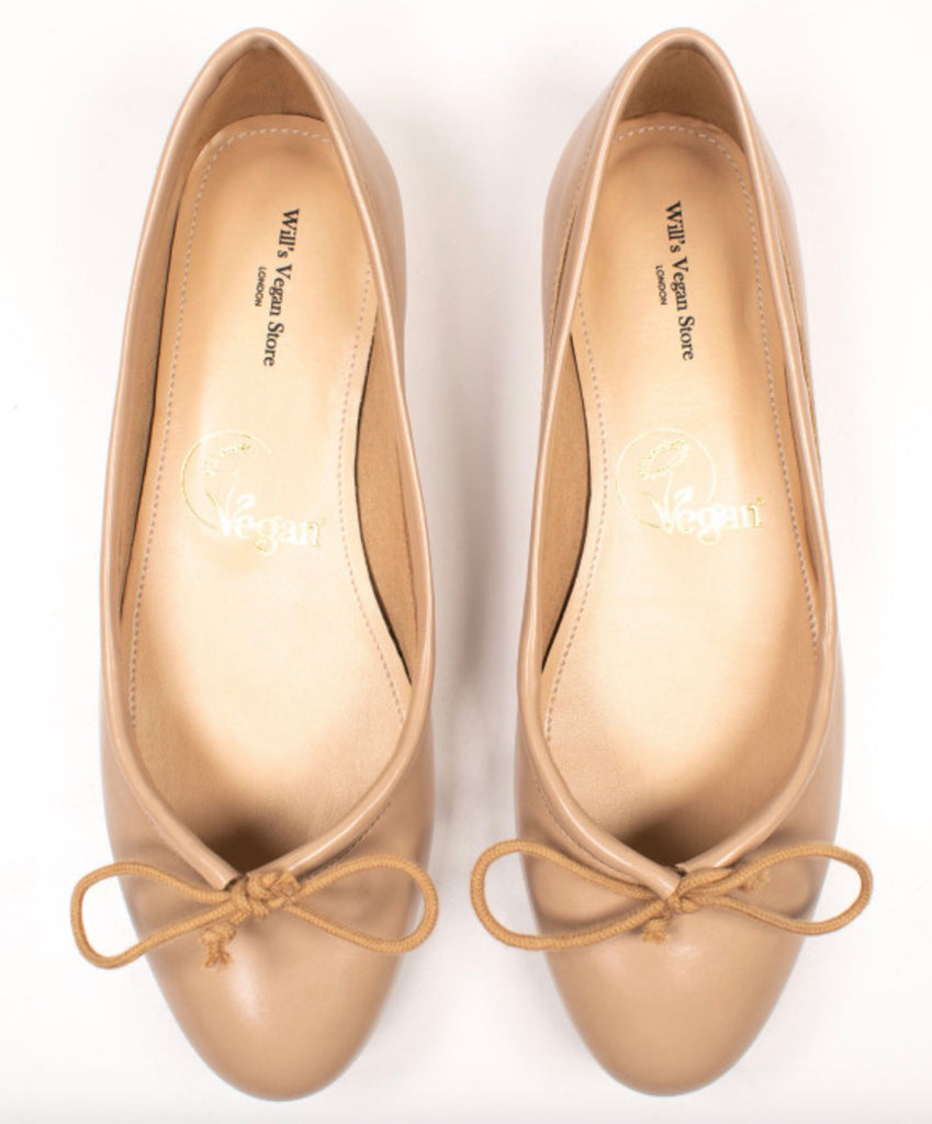 Will's Vegan Shoes Ballerina Flats Sand