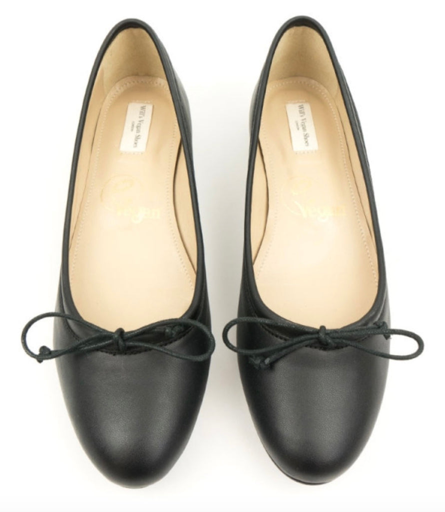 Will's Vegan Shoes Ballerina Flats Black