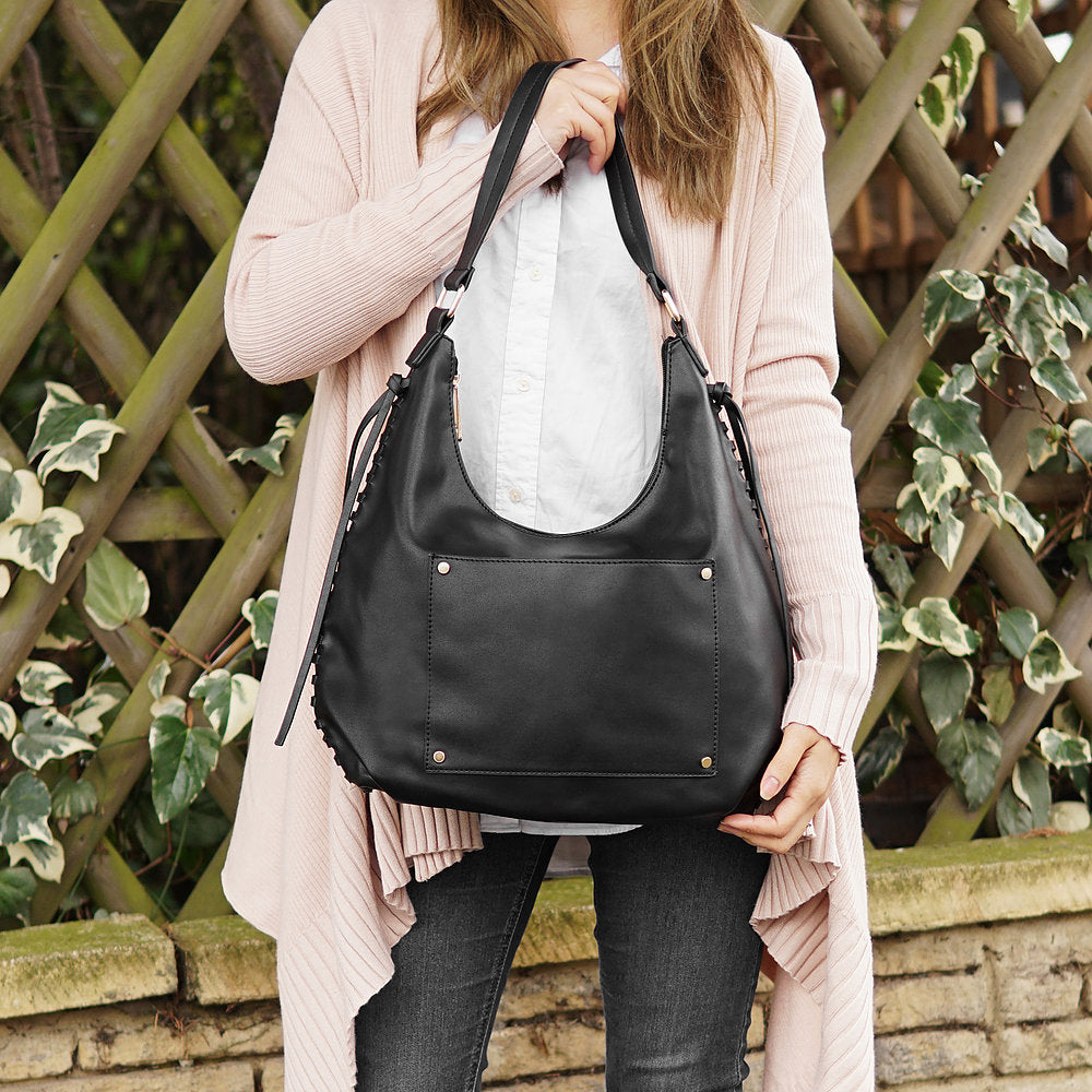 The Lovely Things UK Pocket Slouchy Bag Black