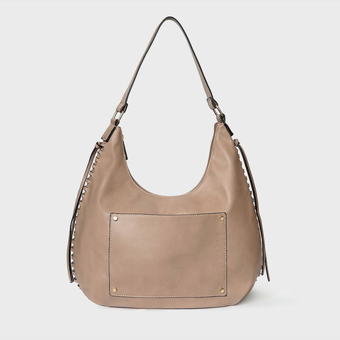 6dc4a23b39 The Lovely Things UK Pocket Slouchy Bag Taupe