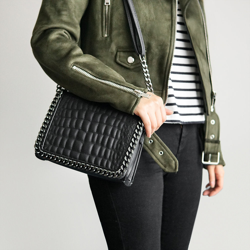 The Lovely Things UK Chain Trim Cross Body Bag