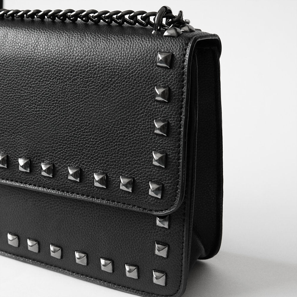The Lovely Things UK Studded Chain Vegan Handbag