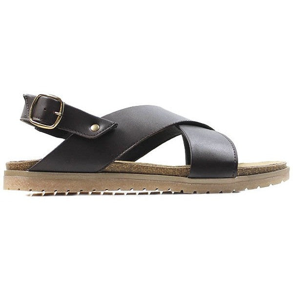 Will's Wills vegan sandals shoes Footbed brown