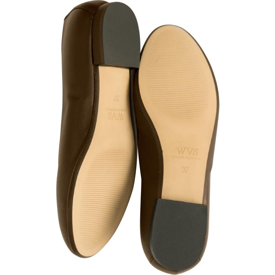 Will's Vegan Ballerina Flats Dark Brown