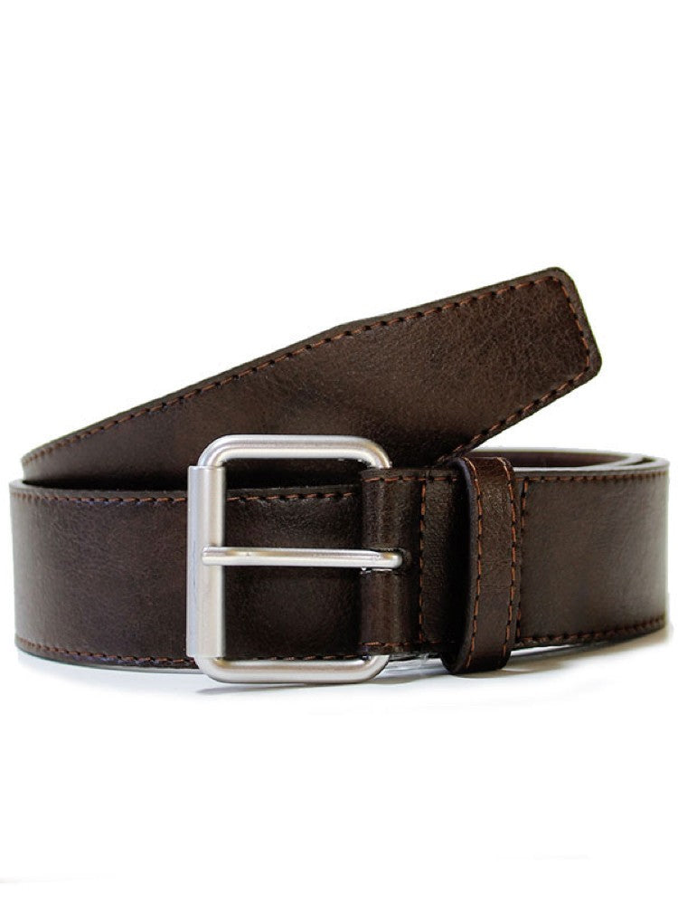Will's 4cm Men's Jeans Belt Dark Brown
