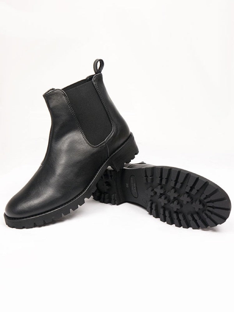 Will's Vegan Deep Tread Chelsea Boot Black